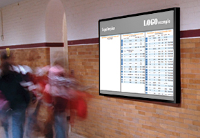 schule digitale signage